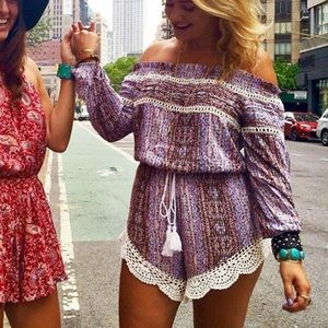 LF Dresses - LF stores stripped long sleeve romper